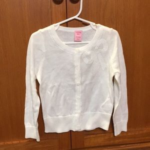 Little girls white sweater. Size S (2/3)